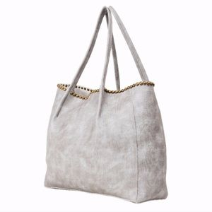 B-low the belt faux leather large studded tote